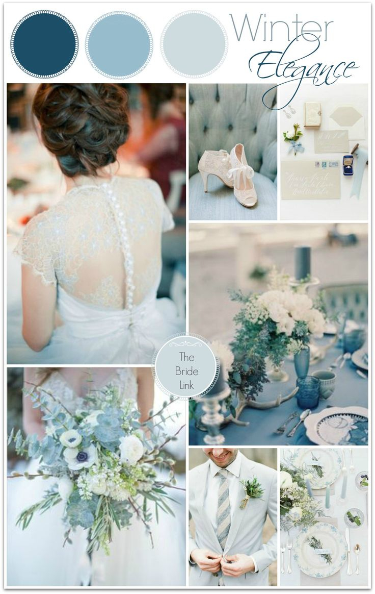 Merry Monday | Winter Wedding Color Palattes