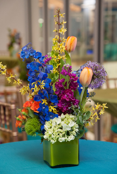 Bright colors in a whimsical design helped pull together all elements of the event.