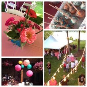 Fresh summer florals + balloons and all of the whimsical touches for this outdoor bash.
